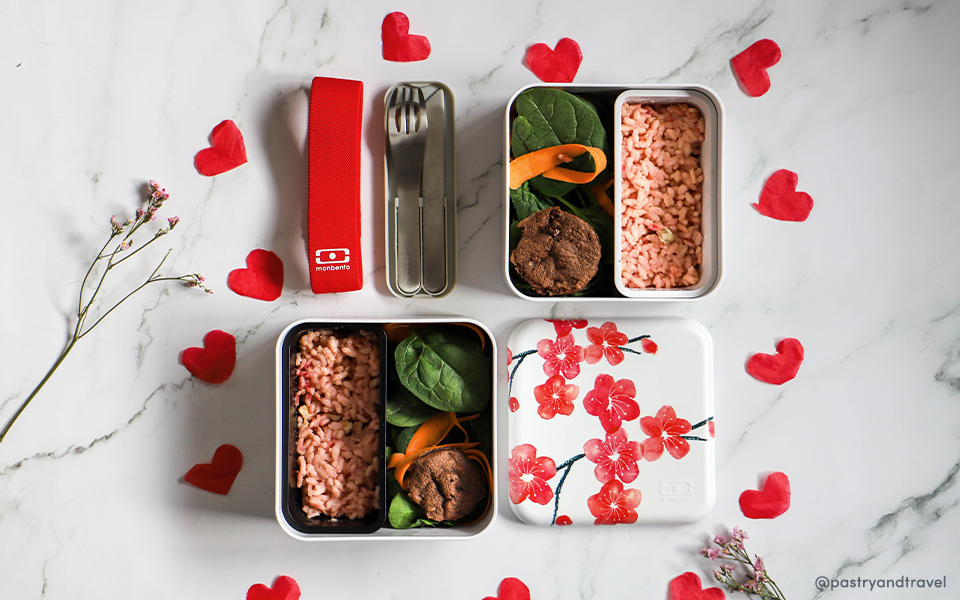 Pink risotto for Valentine's Day