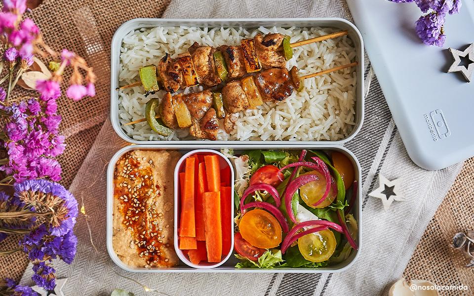 Chicken skewers marinated with Garam Masala and pineapple