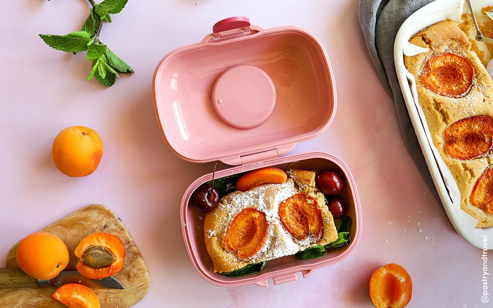 Egg-free apricot cakes