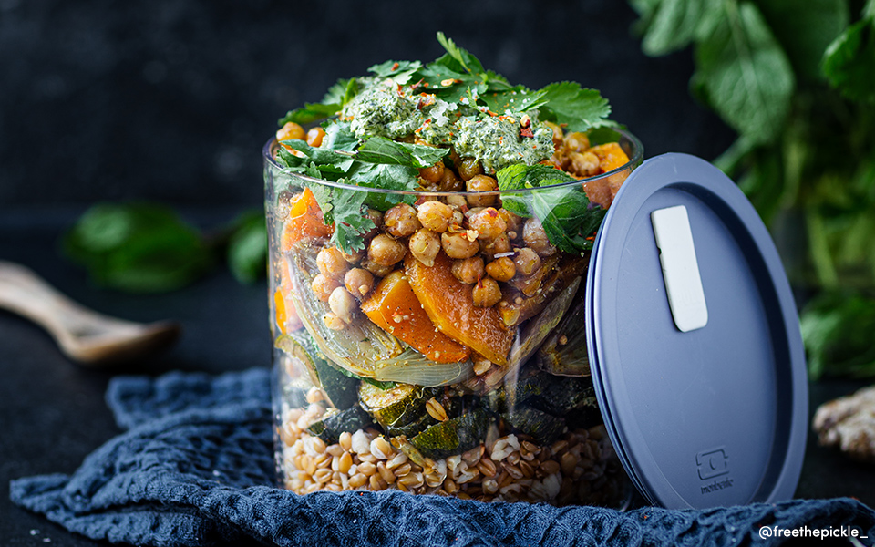 Roasted Vegetable Salad with Indian Spices